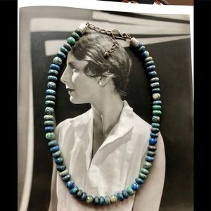 Beautiful vintage apatite 925 silver necklace 😘❤️